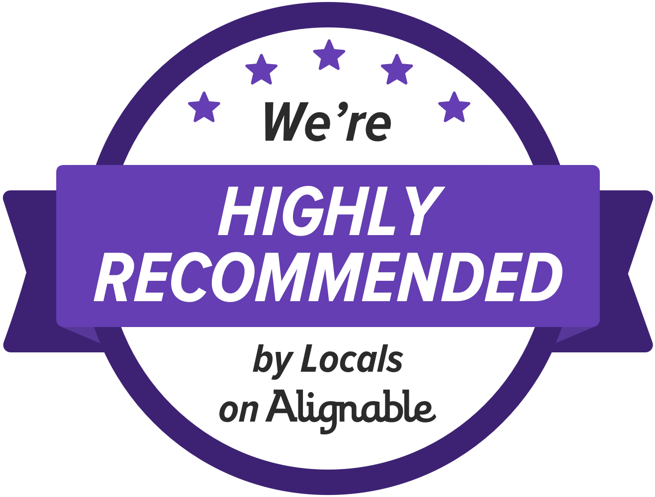 We're highly recommended!